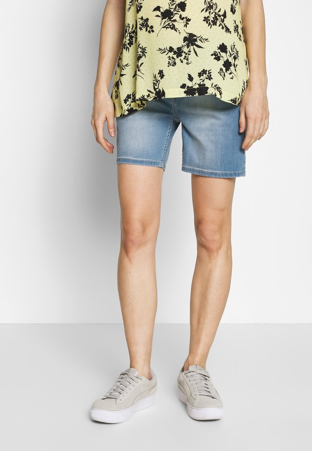 SHORT  - Jeans Short / cowboy shorts - light blue denim