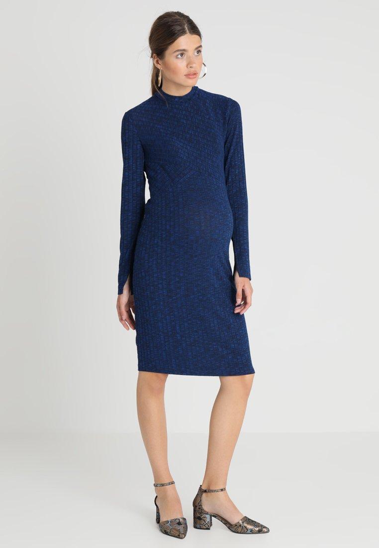 Supermom - DRESS TURTLE NECK - Sukienka dzianinowa - cobalt