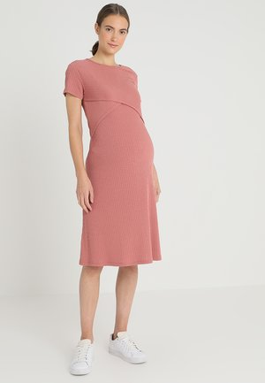 DRESS NURS - Gebreide jurk - canyon rose