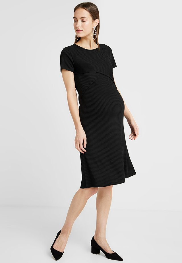 DRESS NURS - Strickkleid - black