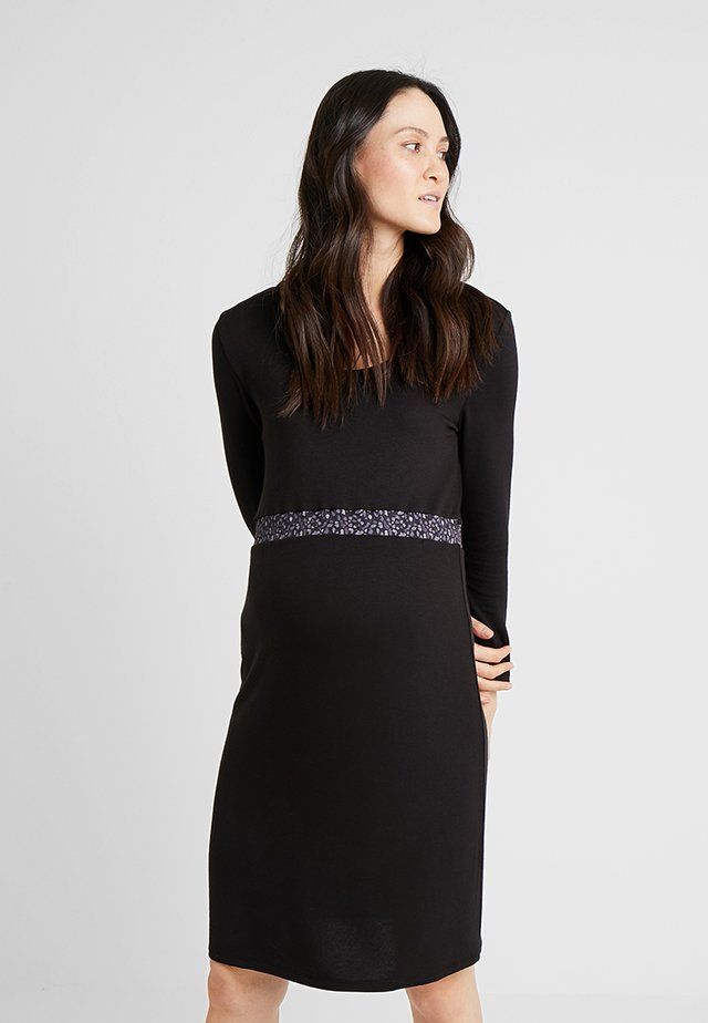 DRESS BASIC - Jersey dress - black