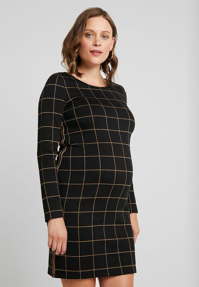 CHECK - Day dress - black
