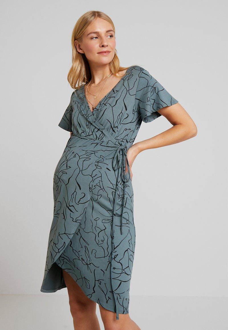 Supermom - DRESS LINES - Žerzejové šaty - balsam green