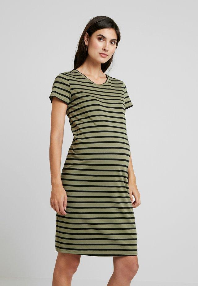 Sukienka z dżerseju - burnt olive