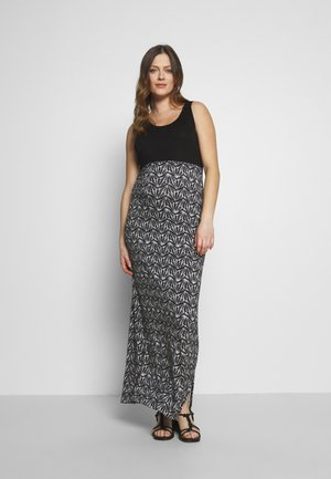 DRESS LONG SHELL - Maxi dress - black
