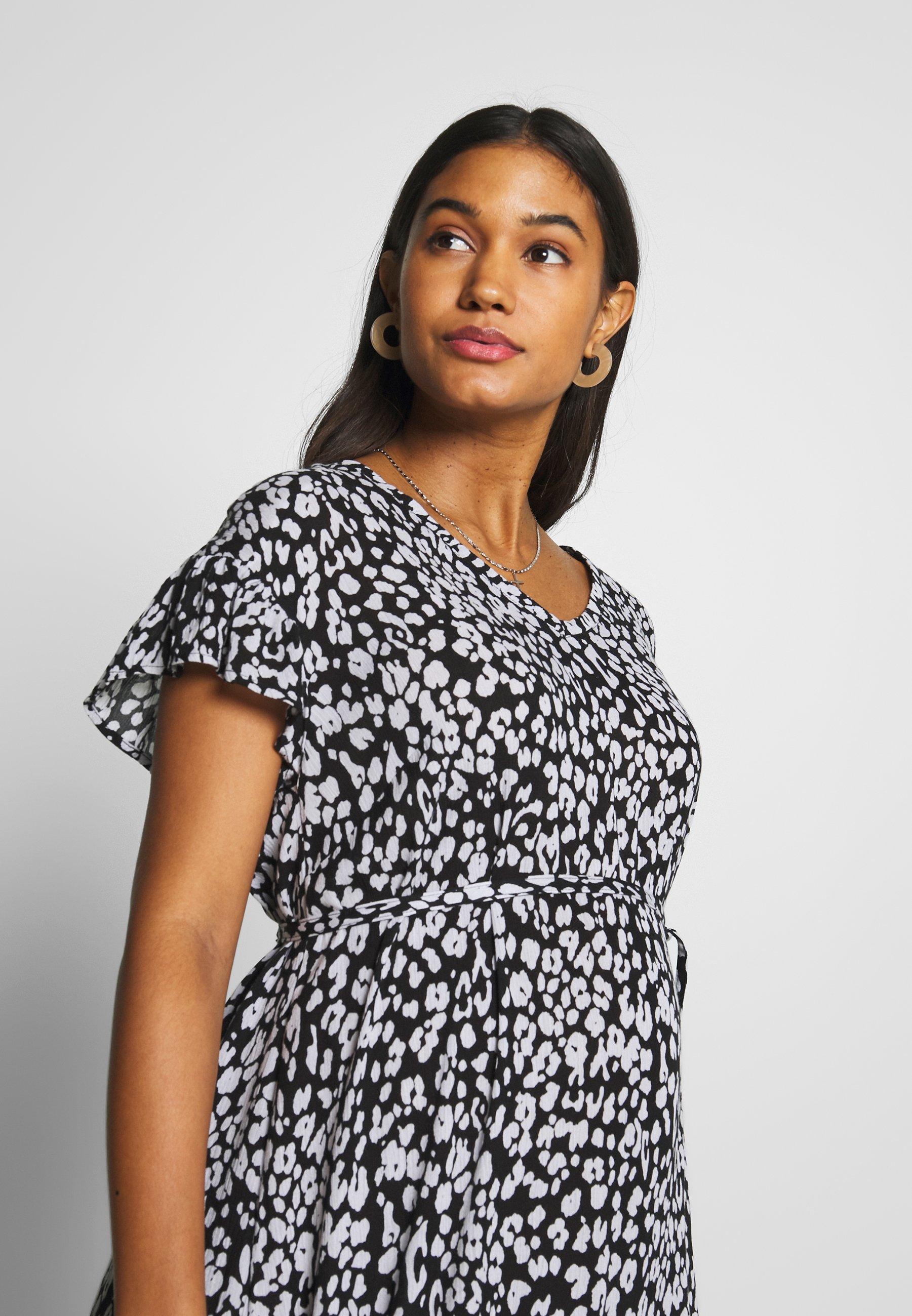 Supermom DRESS LEOPARD - Sukienka letnia - black
