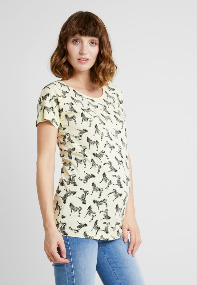 TEE ZEBRA - T-shirt print - pastel yellow