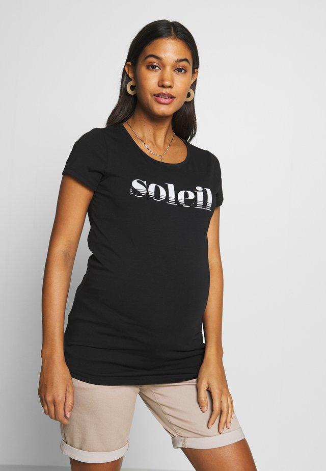 SOLEIL - T-shirt z nadrukiem - black