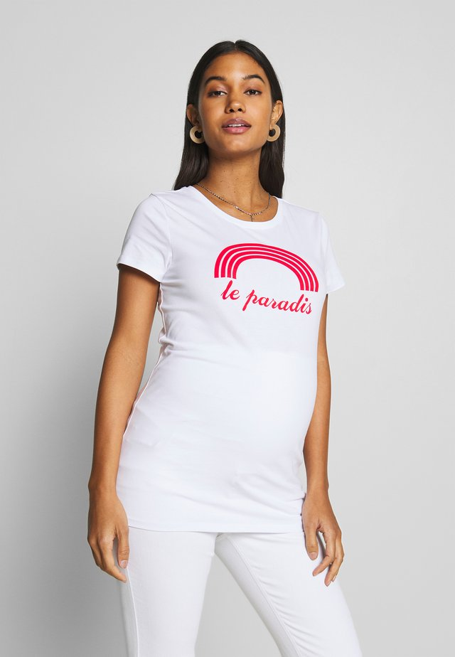 TEE PARADIS - Triko s potiskem - optical white