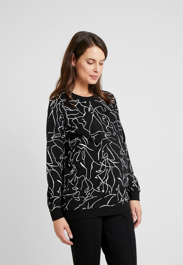 SWEATER LINES - Sweatshirt - black