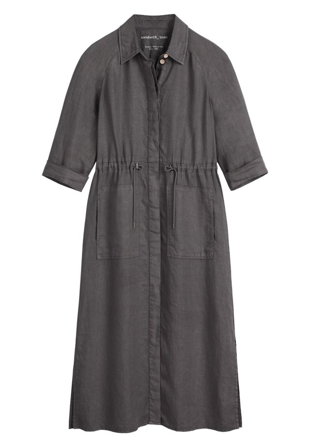 Shirt dress - anthrazit