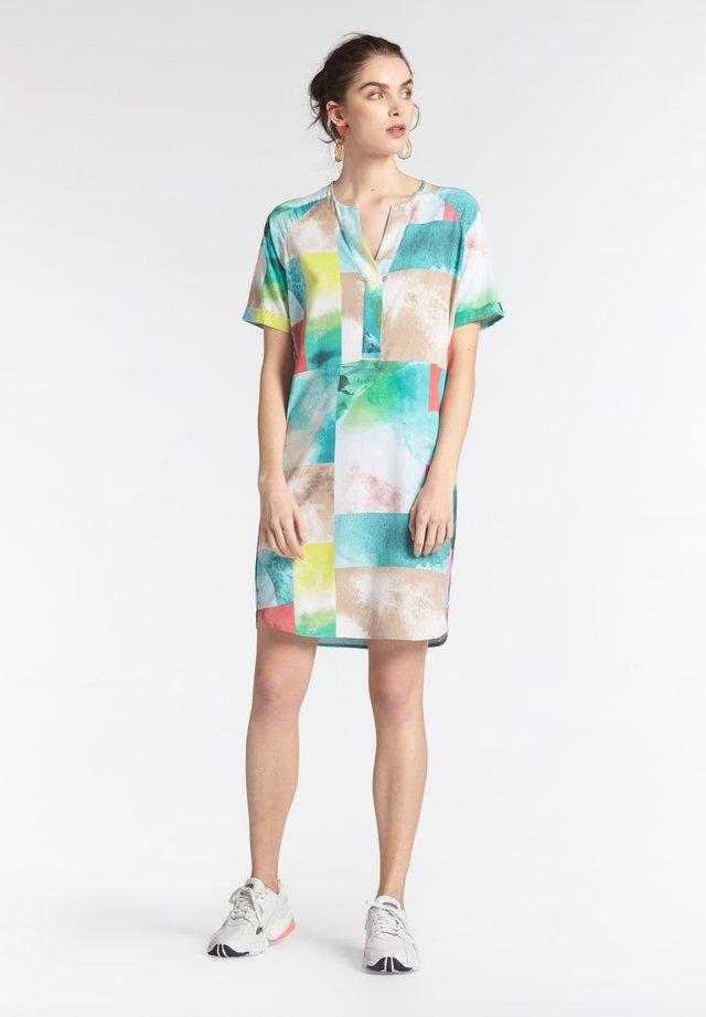 MIT PRINT - Day dress - tã¼rkis