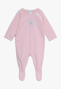 Sanetta - OVERALL LONG STRIPE BABY - Pyžamo - raspberry rose - 0