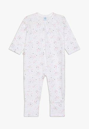 OVERALL LONG ALLOVER BABY - Pyžamo - white