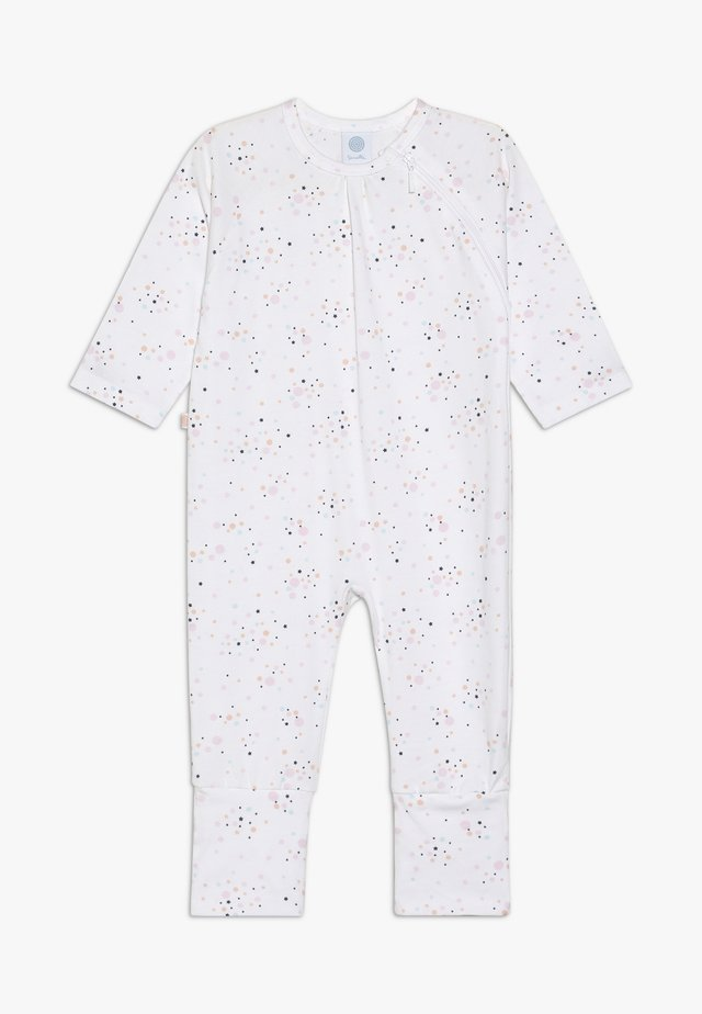 OVERALL LONG ALLOVER BABY - Pyjama - white
