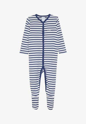 OVERALL STRIPED BABY - Pyžamo - urban blue