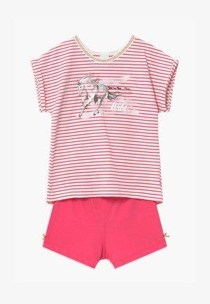 SHORT STRIPE HORSE - Pyžamová sada - pretty pink