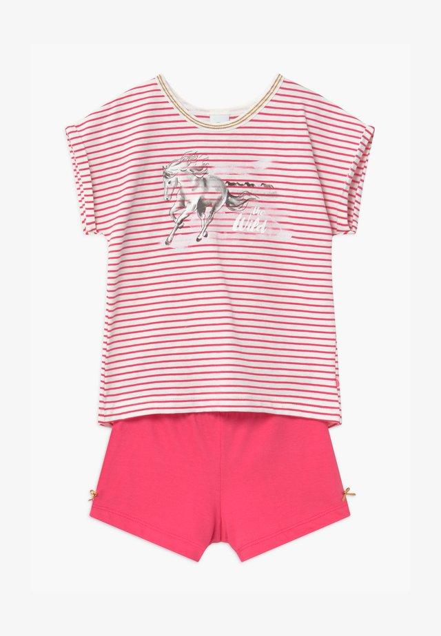SHORT STRIPE HORSE - Pyjama set - pretty pink