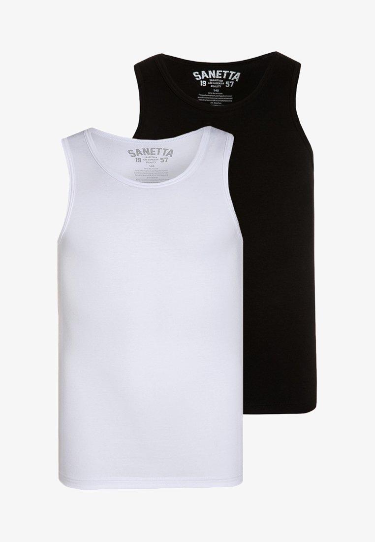 Sanetta - 2 PACK - Unterhemd/-shirt - super black