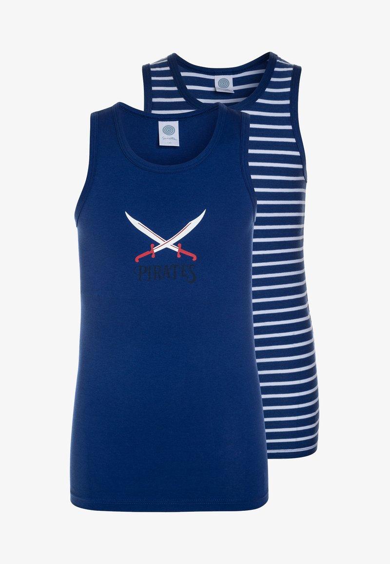 Sanetta - 2 PACK  - Unterhemd/-shirt - caribian blue