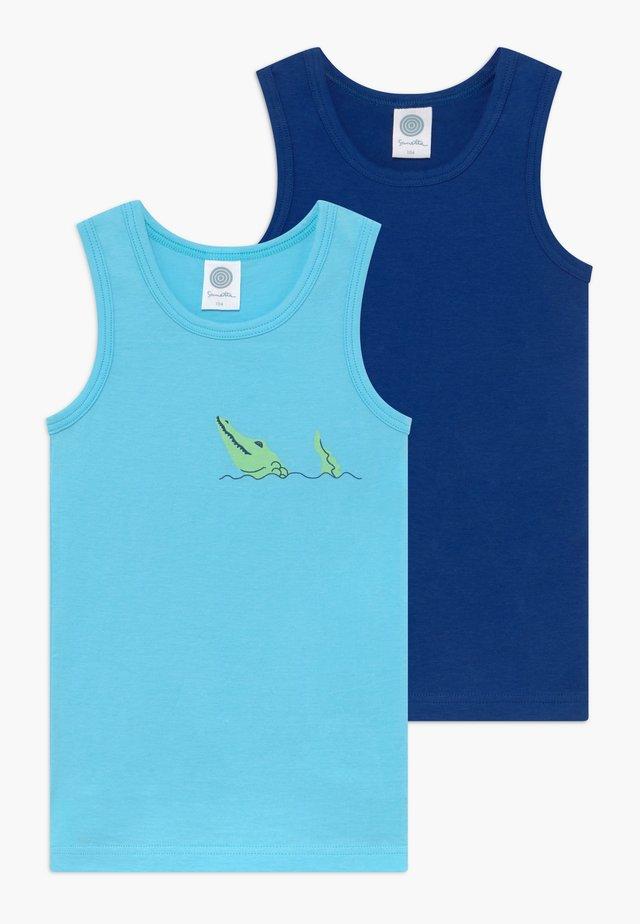 2 PACK - Aluspaita - turquoise blue