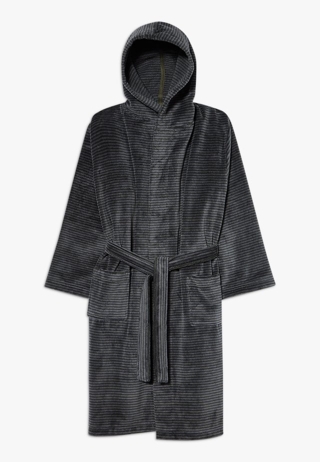 BATHROBE - Dressing gown - grey/deep khaki