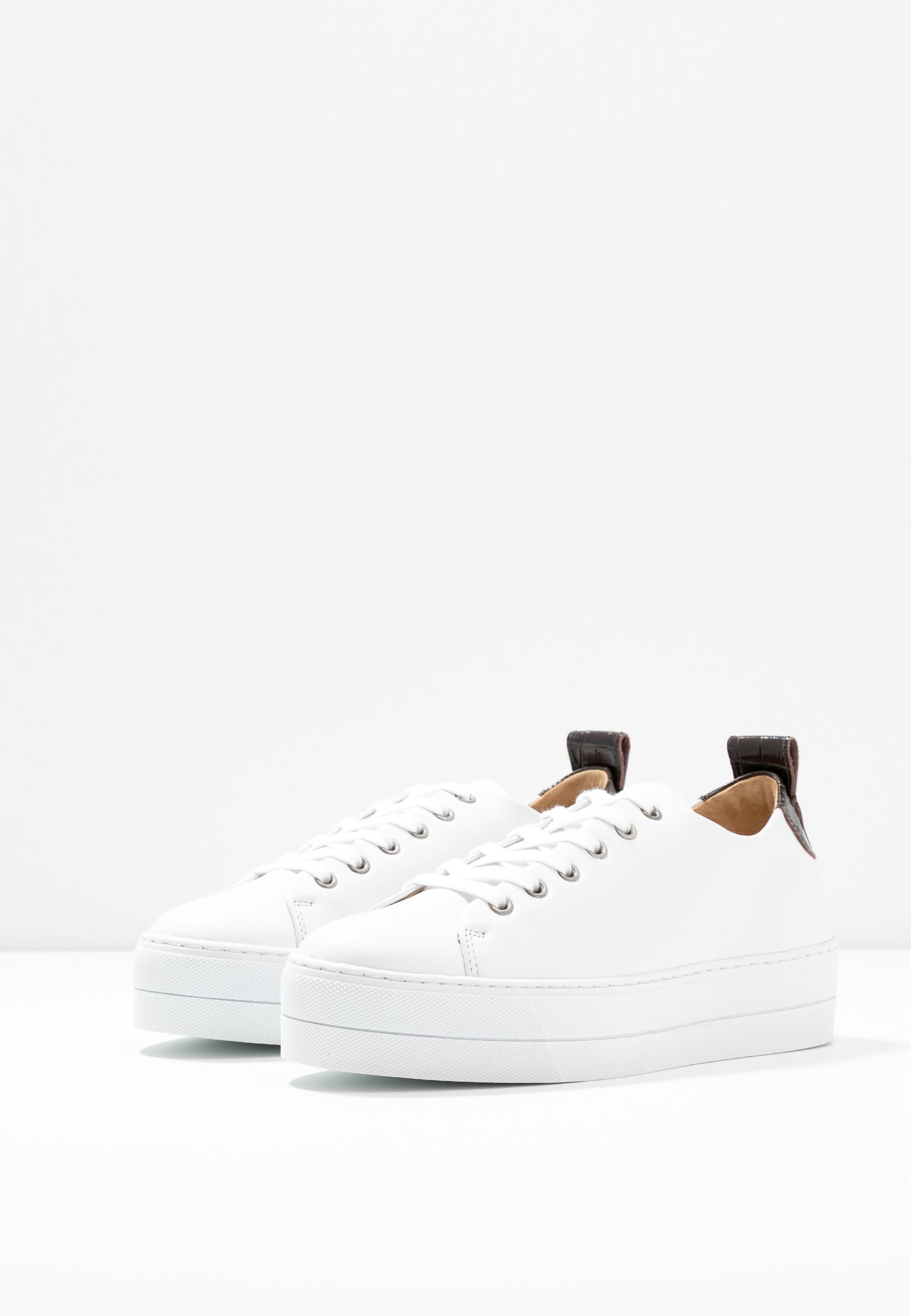 Samsøe Samsøe BURMA 9638 - Sneaker low - white/dark brown - Black Friday