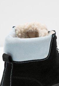 Samsøe Samsøe - HIKER BOOT  - Lace-up ankle boots - black/zen blue - 2