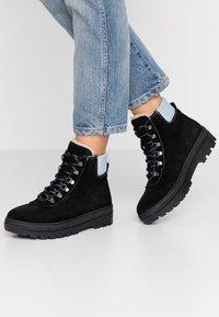 Samsøe Samsøe - HIKER BOOT  - Lace-up ankle boots - black/zen blue - 0
