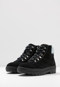 Samsøe Samsøe - HIKER BOOT  - Lace-up ankle boots - black/zen blue - 4
