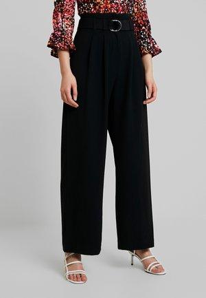 MELLA PANTS - Kalhoty - black