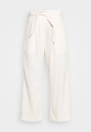 NELLIE TROUSERS - Pantalones - warm white
