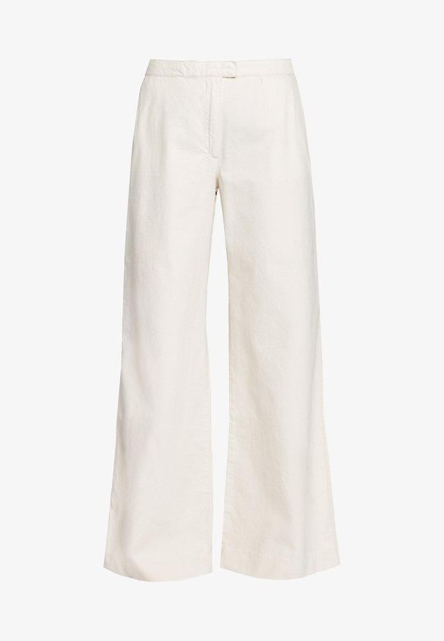 COLLOT TROUSERS - Tygbyxor - warm white