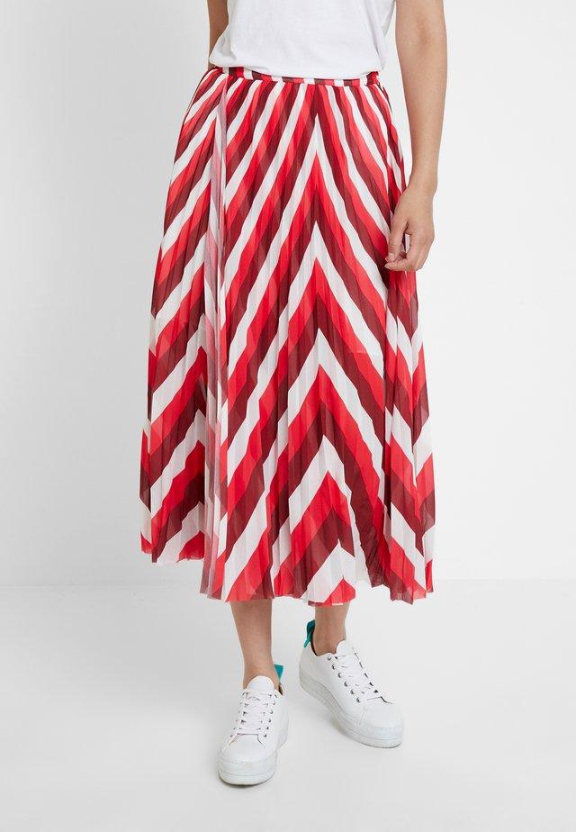 COCOS SKIRT - Áčková sukně - berry mix