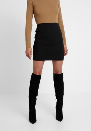HAIFAA SKIRT - Minirok - black