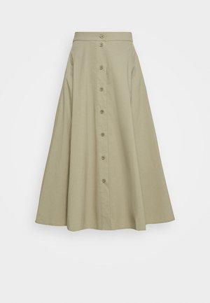 BARBARA LONG SKIRT - A-line skirt - olive grey