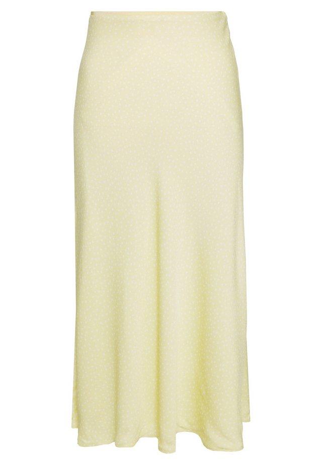 ALSOP SKIRT - Spódnica trapezowa - yellow