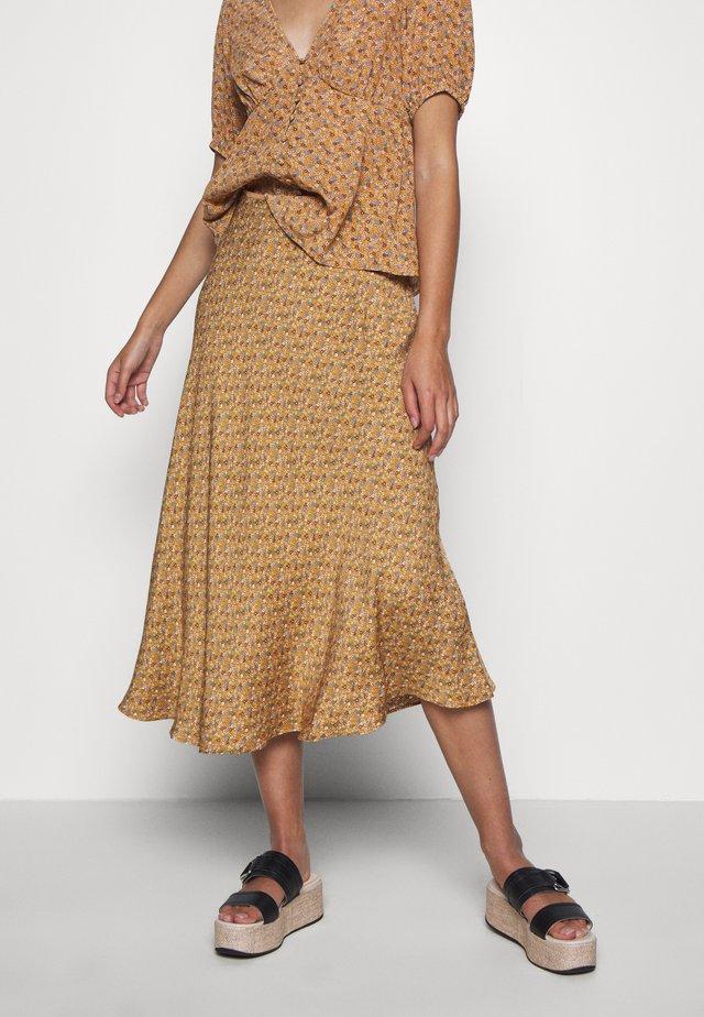 ALSOP SKIRT - Spódnica trapezowa - brown