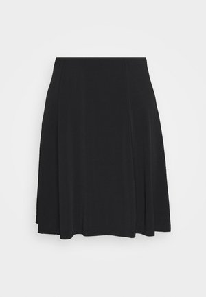 CORNEA SHORT SKIRT - Gonna a campana - black