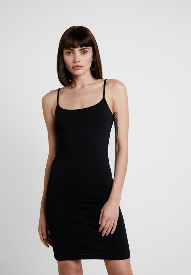 TALLA SLIP DRESS - Etuikjoler - black