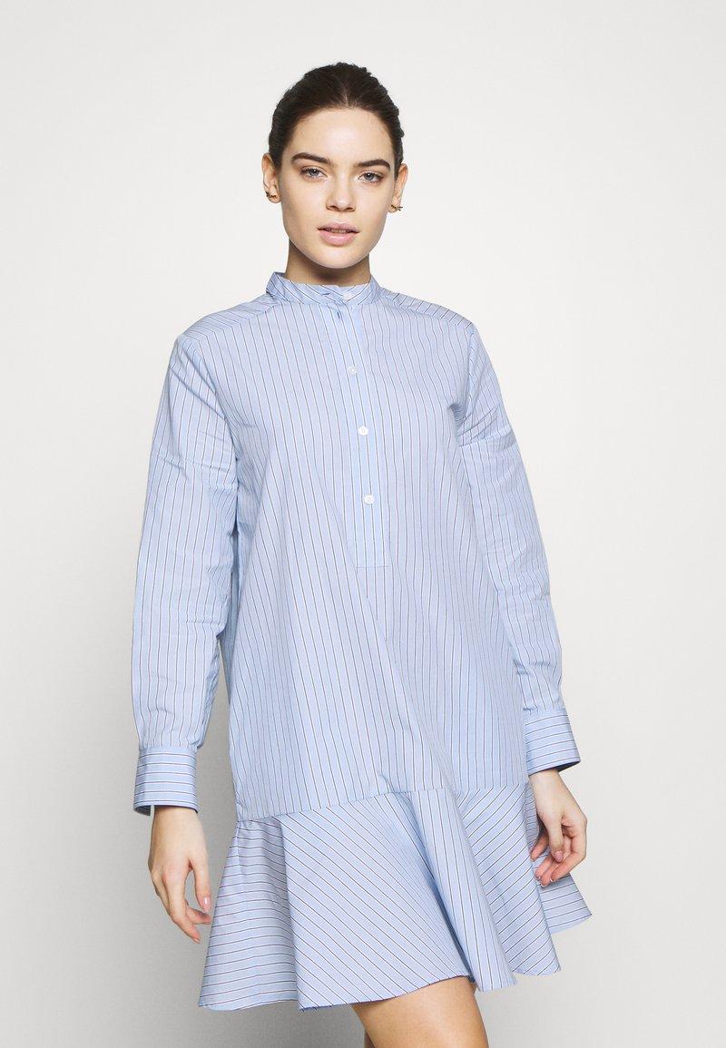 Samsøe Samsøe - LAURY SHIRT DRESS - Skjortklänning - blue
