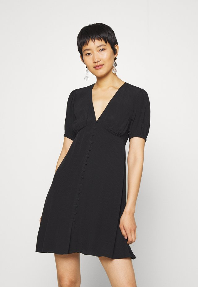PETUNIA SHORT DRESS - Shirt dress - black