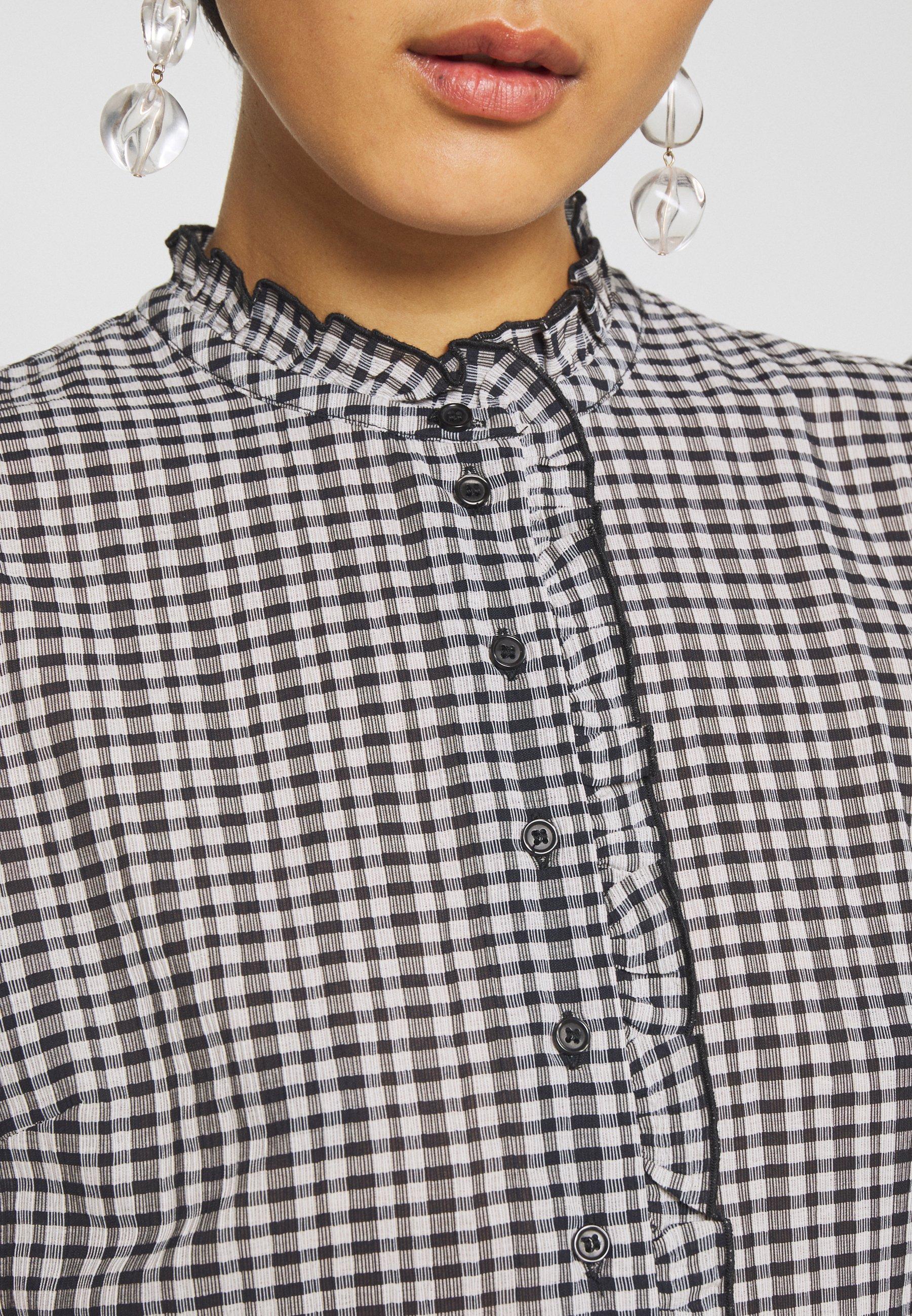 Samsøe Samsøe ZARANI SHORT DRESS - Abito a camicia - black TKFG7R7h