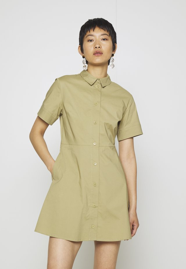 BARBARA SHORT DRESS - Shirt dress - olive grey