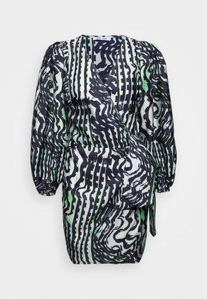 MAGNOLIA SHORT DRESS - Vestido de cóctel - black/white/green