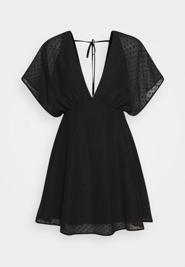 VAAL SHORT DRESS - Robe d'été - black
