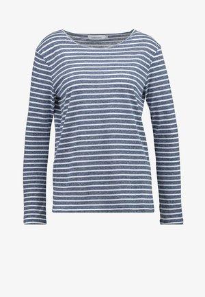NOBEL STRIPE - Long sleeved top - white/blue