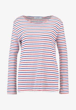 NOBEL STRIPE - Long sleeved top - cream/red