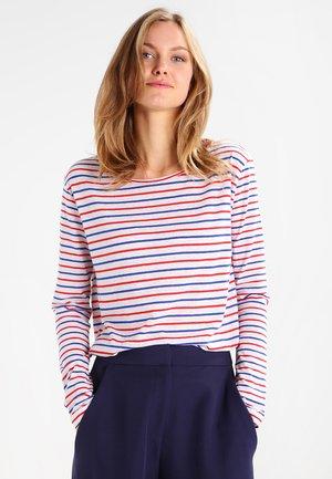 NOBEL STRIPE - T-shirt à manches longues - cream/red