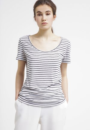 NOBEL TEE STRIPE - T-shirts med print - black